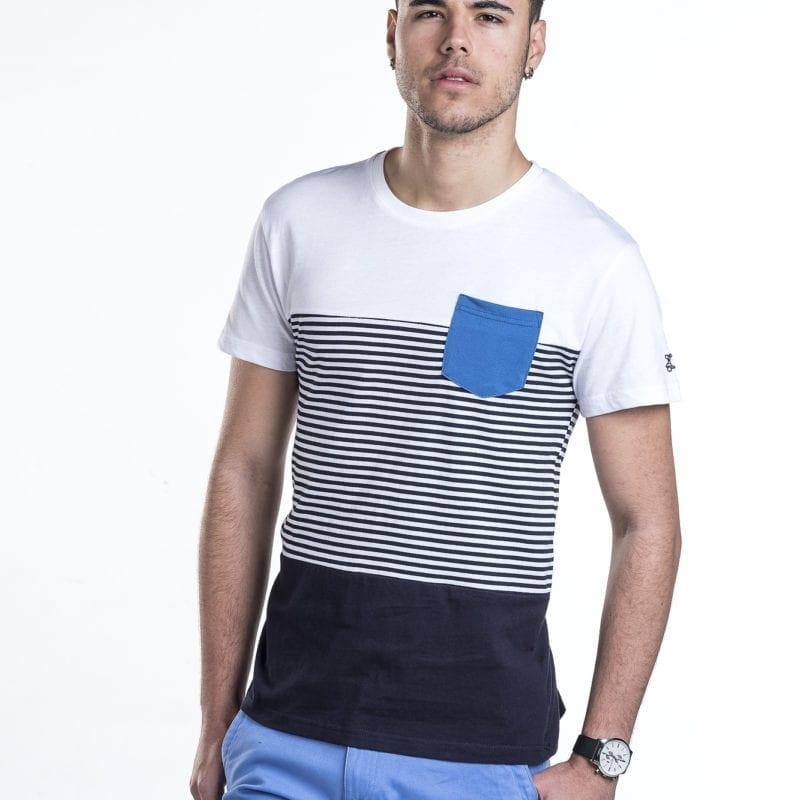 Camiseta combinada con bolsillo