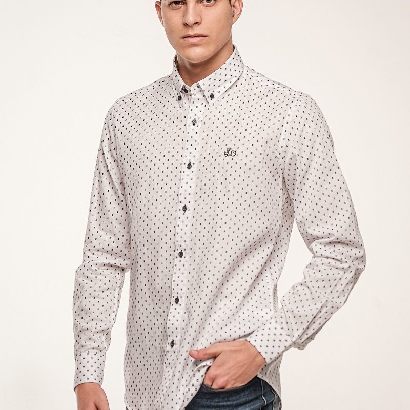 Camisa algodón con estampados